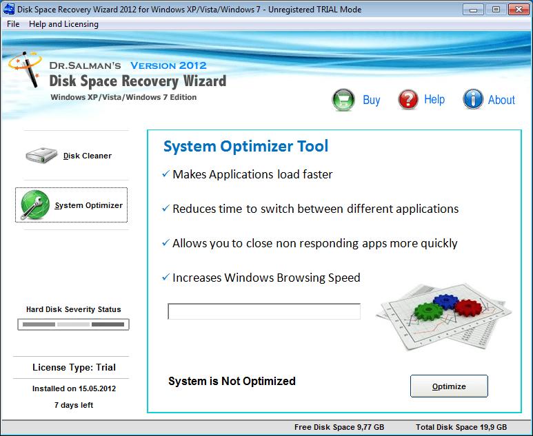 System Optimizer tool