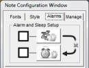 Note Configuration Window