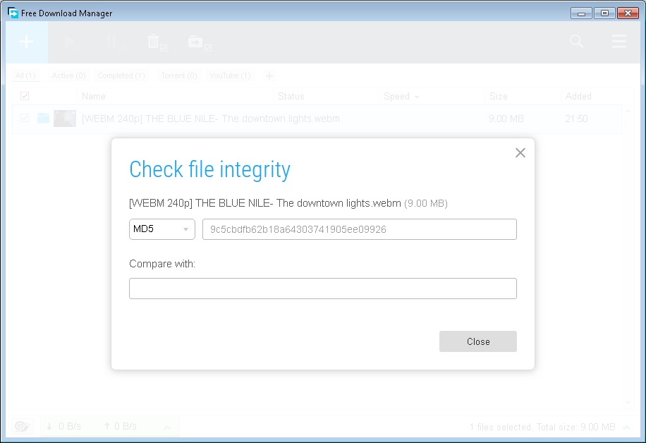 Check File Integrity