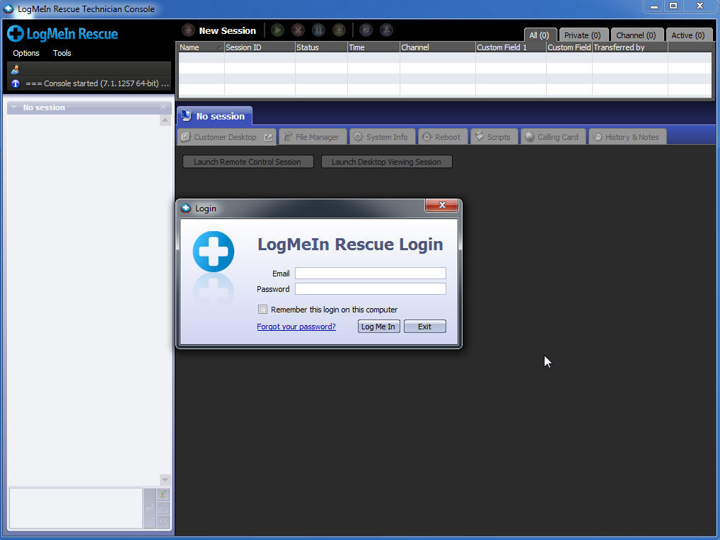 Logmein rescue technician console software informer screenshots - Logmein rescue technician console mac ...
