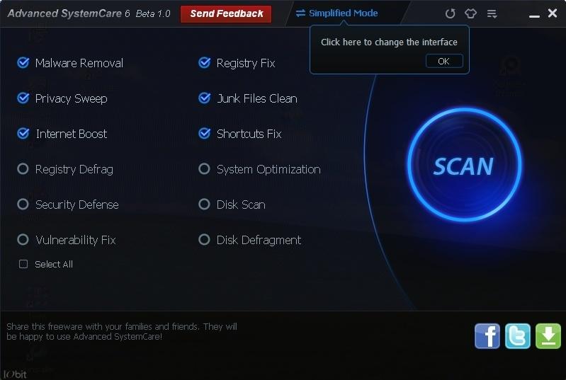Advanced SystemCare ekran görüntüsü