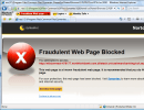 fraudulent webpage blocked
