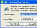 Mac Addrress Changer