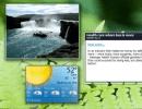 Desktop with Gadgets