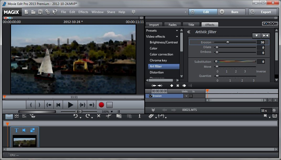 ubuntu] Video editor with awesome effects and keyboard shortcuts