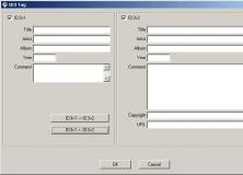 ID3 Tag Editor