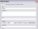 New project - general tab