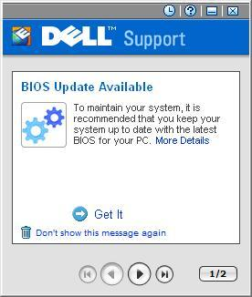 Dellsupport notifying about Bios Update