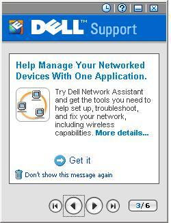Dellsupport promoting Dell Network Assistant