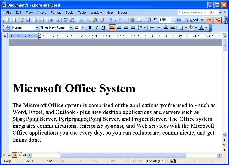 Microsoft Office Software Informer: Screenshots