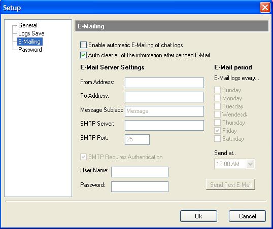 IMMonitor Yahoo messenger Spy e-mail settings
