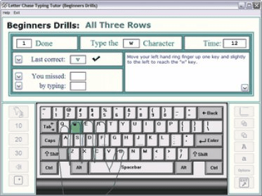 Typing Tutor Features
