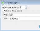 Bad Sector Options