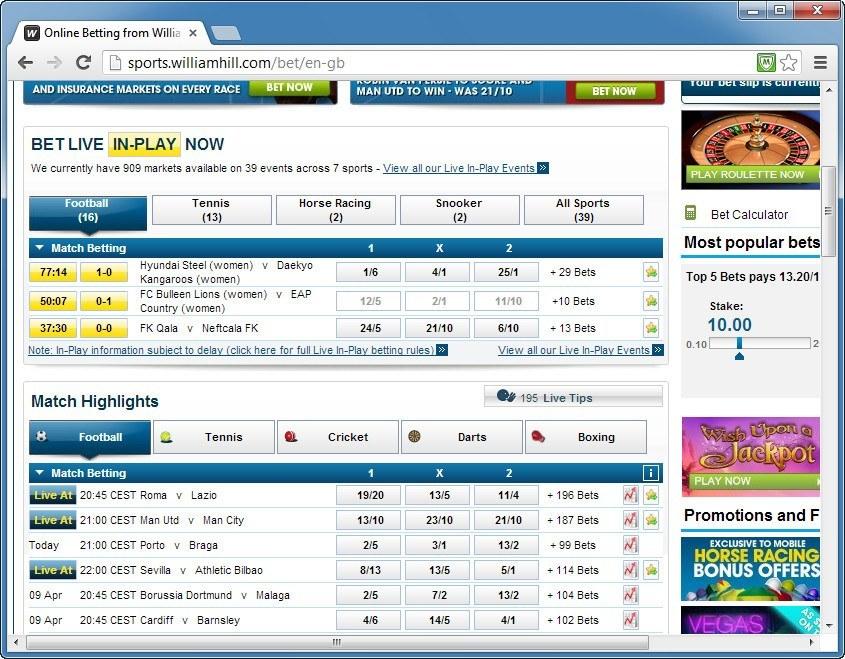 Football Betting Window