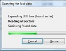 Scanning for lost data window