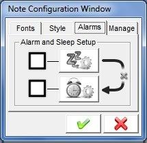 Alarms Configuration