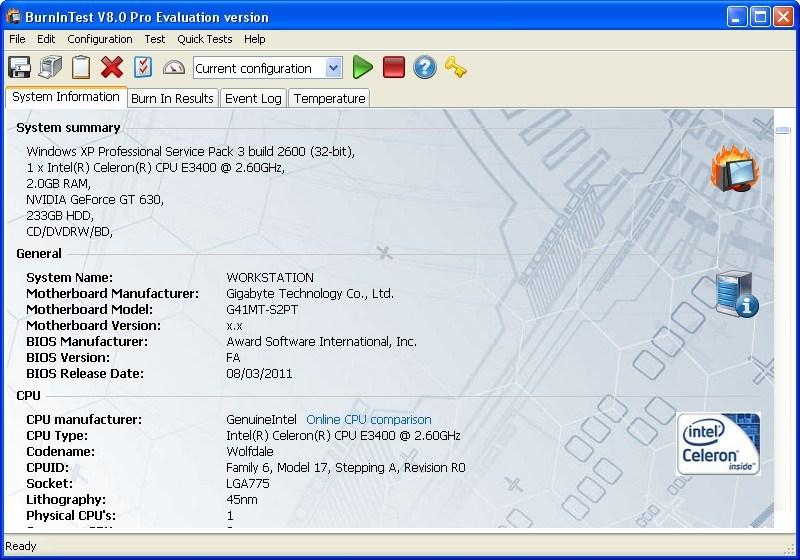 System Info Window