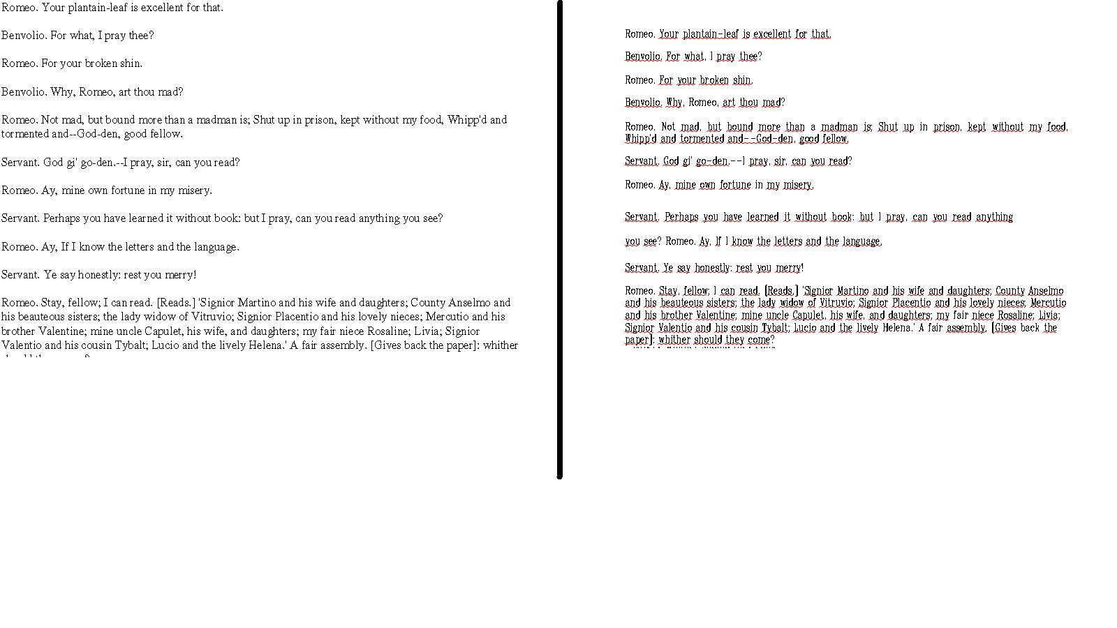 Original PDF and resulting DOC texts