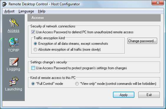 The Host configuration.