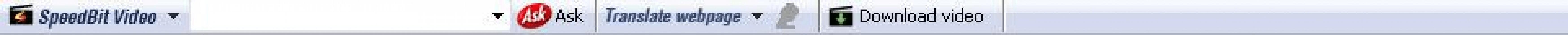 SpeedBit Video Toolbar