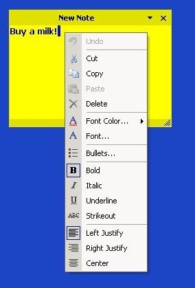 Text format menu