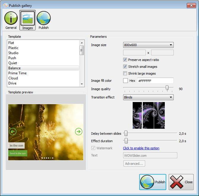 برنامج مجانى مميز لعمل عارض للصور وسلايد شو متحرك للمواقع والمدونات WOW Slider.3-9