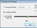 OGG Format Advanced Settings