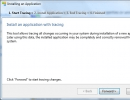 Installing an Application with Tracing