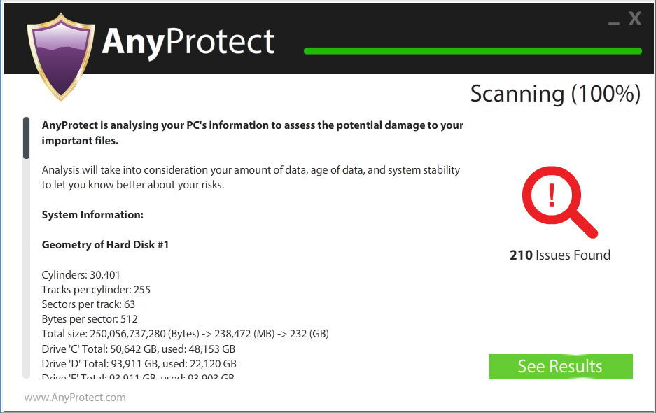 AnyProtect Scanning