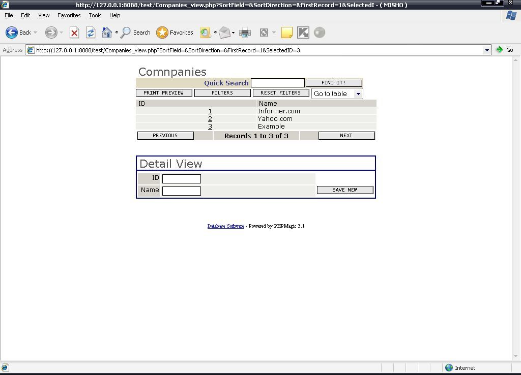 The final Working script example
