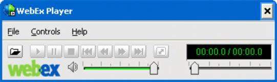 WebEx Player Panel