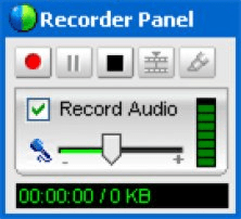 WebEx Recorder Panel