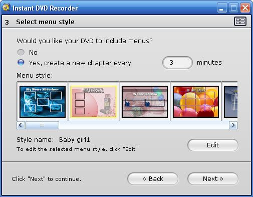 pinnacle instant dvd recorder program