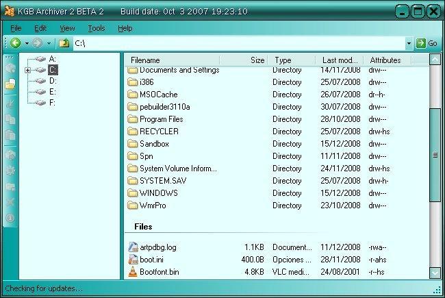 ���� 1 GB �� 10 MB �� ��� ������� KGB Archiver 2.0.0.2 Beta 2