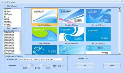 Smartsyssoft business card maker 25 download free trial card template selection reheart Gallery