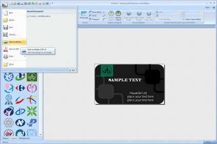 Smartsyssoft business card maker 30 download free trial main menu colourmoves