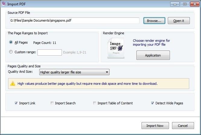 Import Source PDF