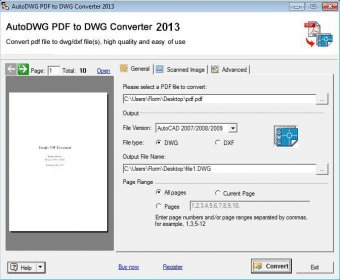 1.2.0.1 Converter Download Free Pdf2dwg Descargar