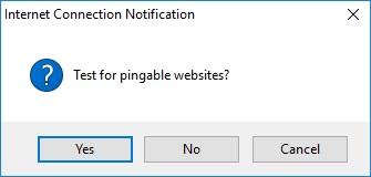 Test Pingable Sites