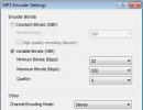 Encoder Settings
