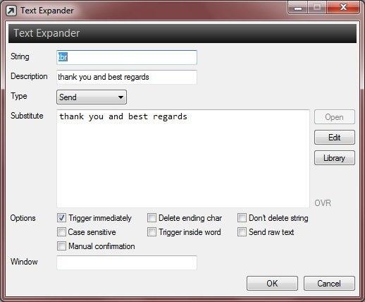 Text Expander Editor