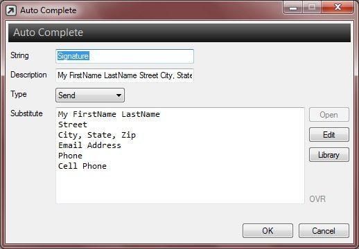 Auto Complete Editor