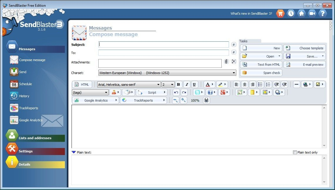 Compose Message Screen