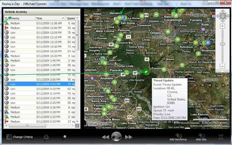 Route Tracker Window