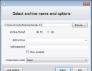 Archive File Creation Window