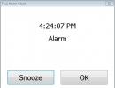 An Alarm Window