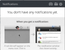 Notifications Area