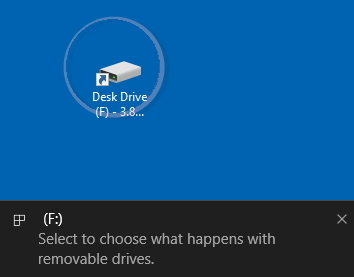 Displaying Device Shortcut Icon