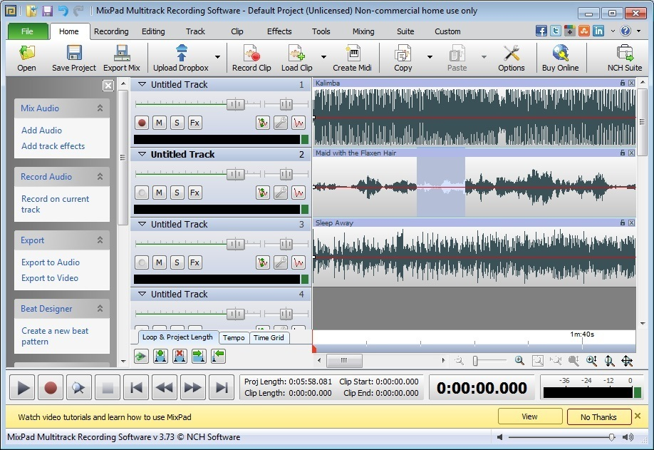 Load Audio Clips