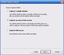 Screen capturing options.